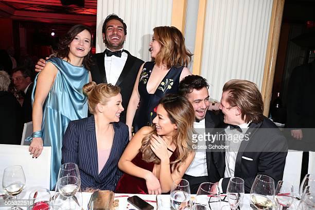 Lena Schoemann,Elyas M'Barek, Jella Haase, Gizem Emre, Anna Lena Klenke, Aram Arami, and Max von der Groeben during the German Film Ball 2016 party...