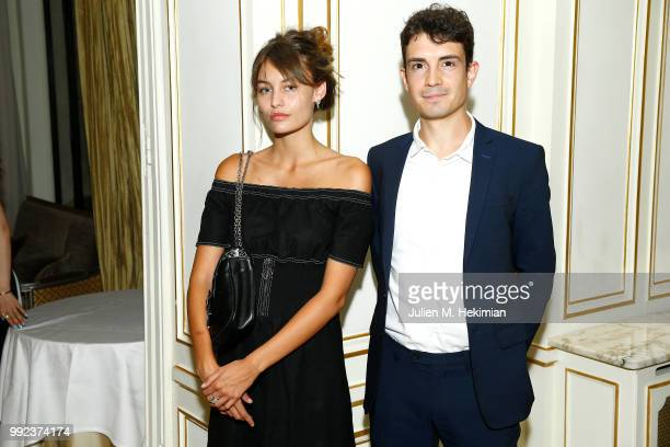 Lena Simmone and guest attend the Liu Lisi Charity Gala Dinner with Unicef at Hotel Plaza Athenee on July 5 2018 in Paris France