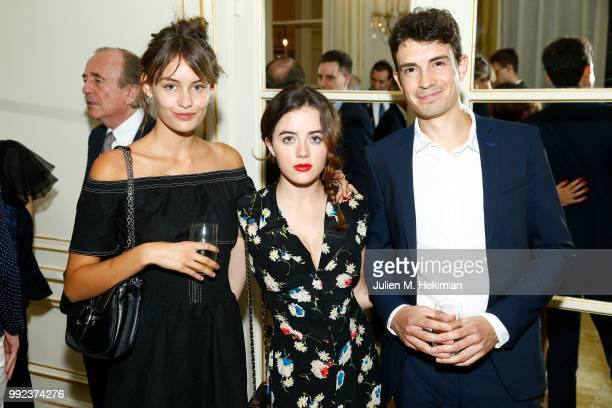 Lena Simmone Lou Gala and guest attend the Liu Lisi Charity Gala Dinner with Unicef at Hotel Plaza Athenee on July 5 2018 in Paris France