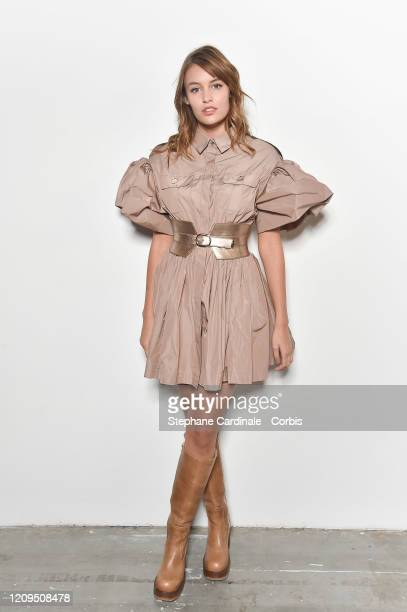 Lena Simonne attends the Elie Saab show as part of the Paris Fashion Week Womenswear Fall/Winter 2020/2021 on February 29 2020 in Paris France
