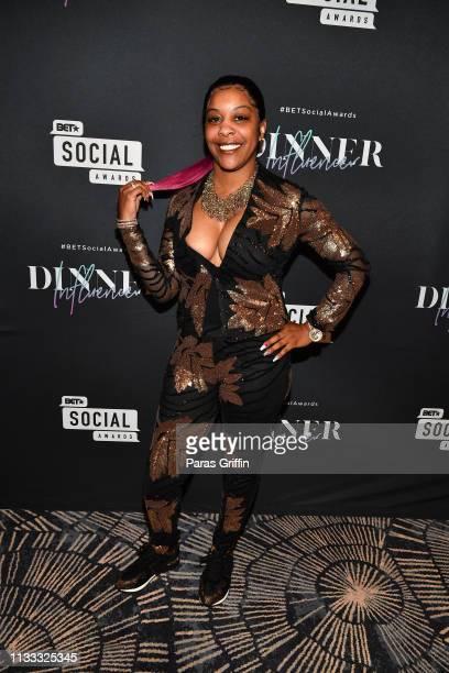 Lena Smith attends 2018 BET Social Awards Dinner at TWELVE Atlantic Station on March 02 2019 in Atlanta Georgia