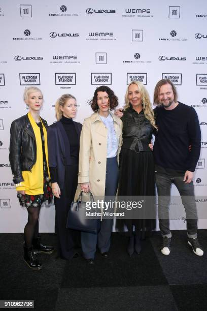 Lena Sophie Anders Anna Kristin Haas Ilona Marx Christine Kubatta and Michael Staib attend the AMD Exit18 show during Platform Fashion January 2018...