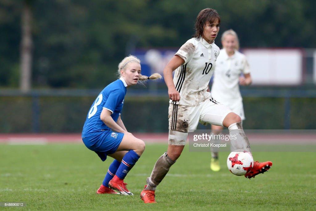 U19 Women's Germany v U19 Women's Iceland - UEFA Under19 Women's Euro Qualifier