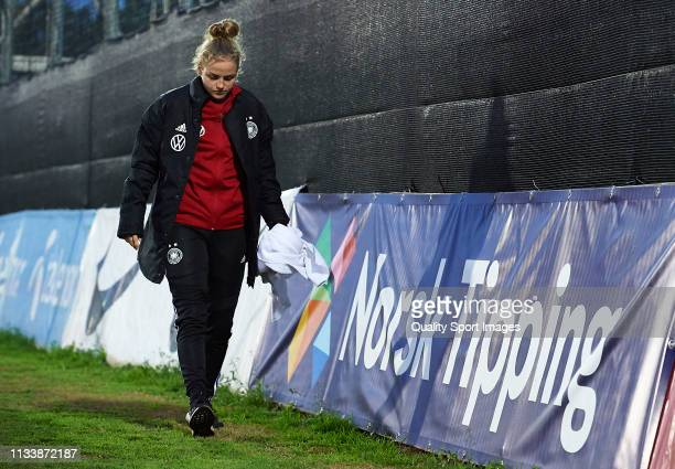 Lena Uebach of Germany walks off the pitch during the 14 Nations Tournament match between U19 Women's Germany and U19 Women's Norway on March 05 2019...