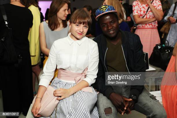 Lena Urzendowsky and Nama Traore attend the Laurel show during the Mercedes-Benz Fashion Week Berlin Spring/Summer 2018 at Kaufhaus Jandorf on July...