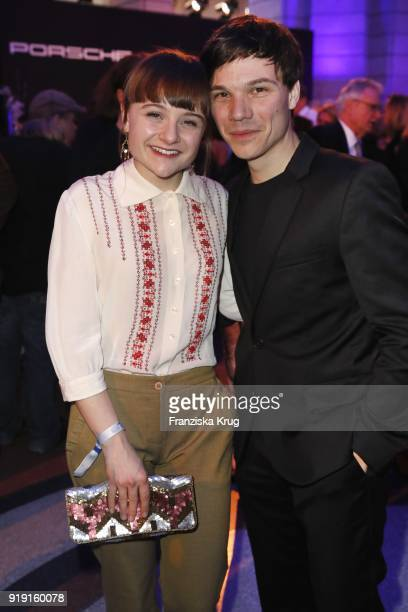 Lena Urzendowsky and Sebastian Urzendowsky attends the Porsche at Blue Hour Party hosted by ARD during the 68th Berlinale International Film Festival...