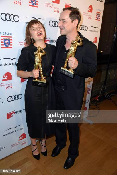 Lena Urzendowsky and Thomas Schmauser during the Hessian Film and Cinema Award at Alte Oper on October 12 2018 in Frankfurt am Main Germany