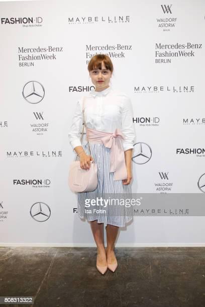 Lena Urzendowsky attends the Laurel show during the Mercedes-Benz Fashion Week Berlin Spring/Summer 2018 at Kaufhaus Jandorf on July 4, 2017 in...