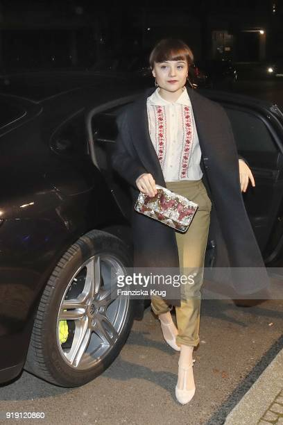 Lena Urzendowsky attends the Porsche at Blue Hour Party hosted by ARD during the 68th Berlinale International Film Festival Berlin at Museum fuer...