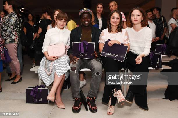 Lena Urzendowsky, Nama Traore, Sarah Alles and Valerie Pachner attend the Laurel show during the Mercedes-Benz Fashion Week Berlin Spring/Summer 2018...