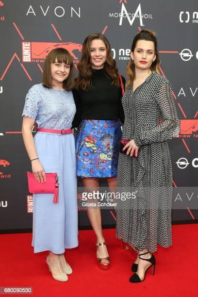 Lena Urzendowsky, Svenja Jung and Ella Rumpf during the New Faces Award Film at Haus Ungarn on April 27, 2017 in Berlin, Germany.
