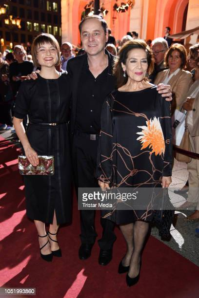 Lena Urzendowsky, Thomas Schmauser and Hannelore Elsner during the Hessian Film and Cinema Award at Alte Oper on October 12, 2018 in Frankfurt am...