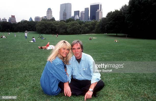 Lena Valaitis Ehemann Horst Jüssen FamilienUrlaub am im Central Park in Manhattan New York USA