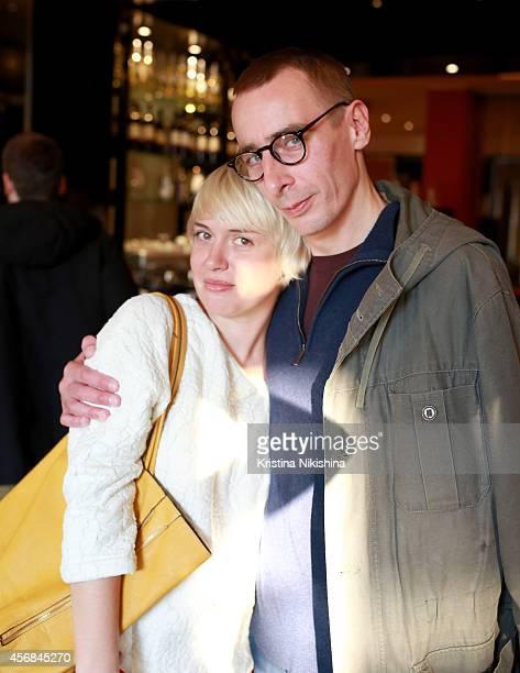 Lena Vanina and Konstantin Murzenko attend the Concerned Russian premiere of Boris Khlebnikov's TNT Series during the Saint Petersburg International...