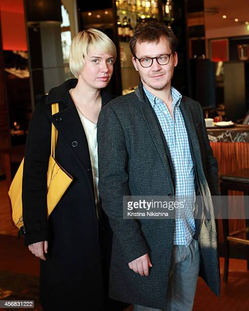 Lena Vanina and Roman Volobuyev attend the Concerned Russian premiere of Boris Khlebnikov's TNT Series during the Saint Petersburg International...