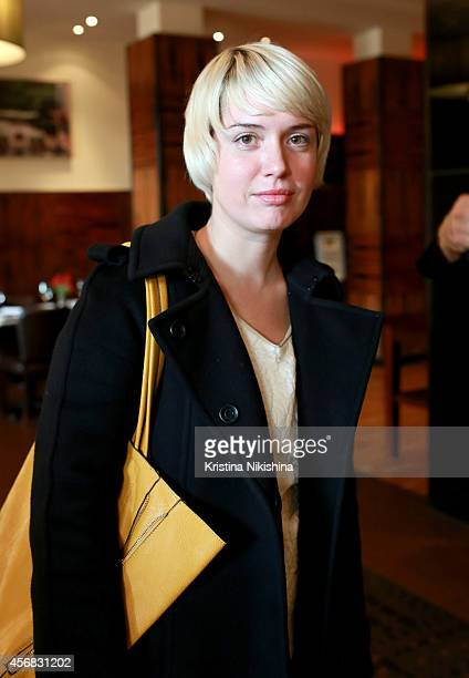 Lena Vanina attends the Concerned Russian premiere of Boris Khlebnikov's TNT Series during the Saint Petersburg International Media Forum at the...
