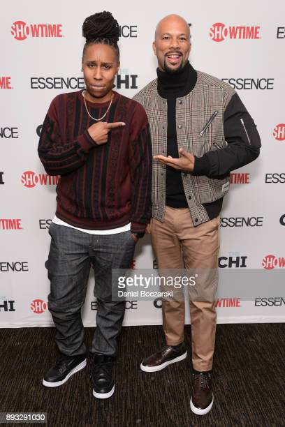 Lena Waithe and Common attend an advance screening of Showtime's 'The Chi' on Chicago's South Side at SMG Chatham on December 14 2017 in Chicago...