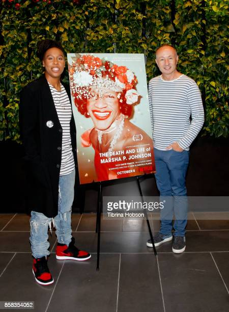 Lena Waithe and Fenton Bailey attend the screening of Netflix's 'The Death And Life Of Marsha P Johnson' at NETFLIX on October 4 2017 in Los Angeles...
