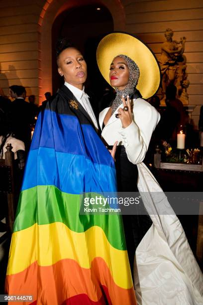 Lena Waithe and Janelle Monáe attend the Heavenly Bodies Fashion The Catholic Imagination Costume Institute Gala at The Metropolitan Museum of Art on...
