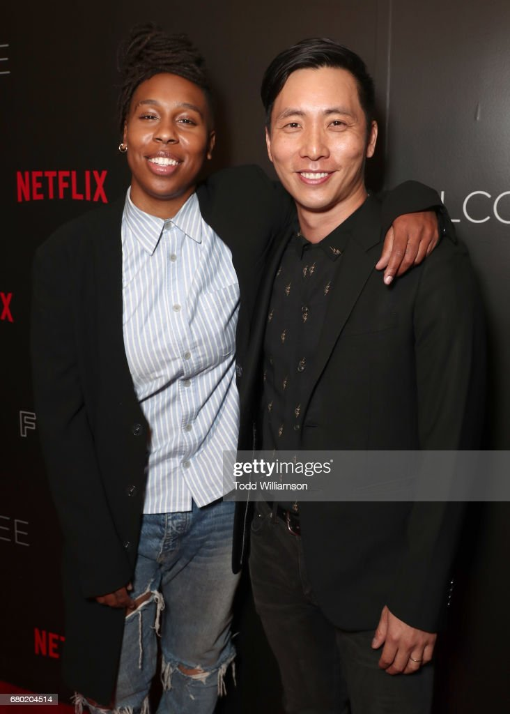 Lena Waithe and Kelvin Yu attend Netflix's FYSEE Kick-Off Event at Netflix FYSee Space on May 7, 2017 in Beverly Hills, California.