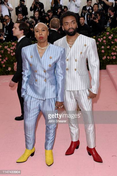 Lena Waithe and Kerby Jean-Raymond attends The 2019 Met Gala Celebrating Camp: Notes On Fashion at The Metropolitan Museum of Art on May 06, 2019 in...