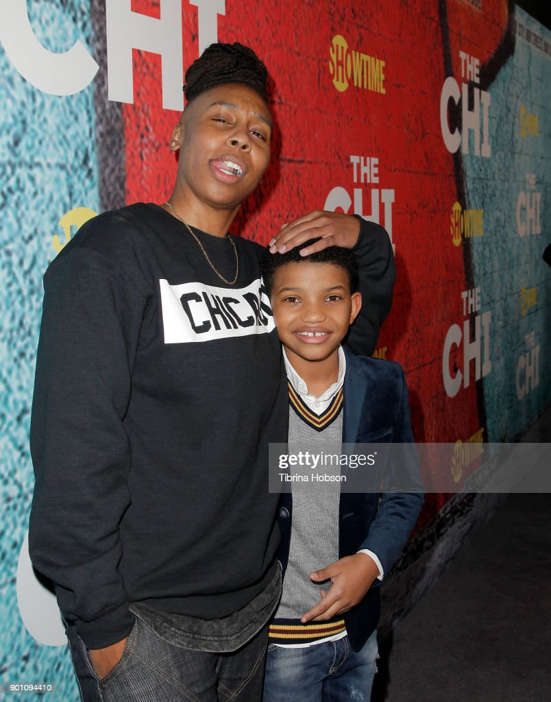 Lena Waithe and Lonnie Chavis attend the premiere of Showtime's 'The Chi' at Downtown Independent on January 3, 2018 in Los Angeles, California.