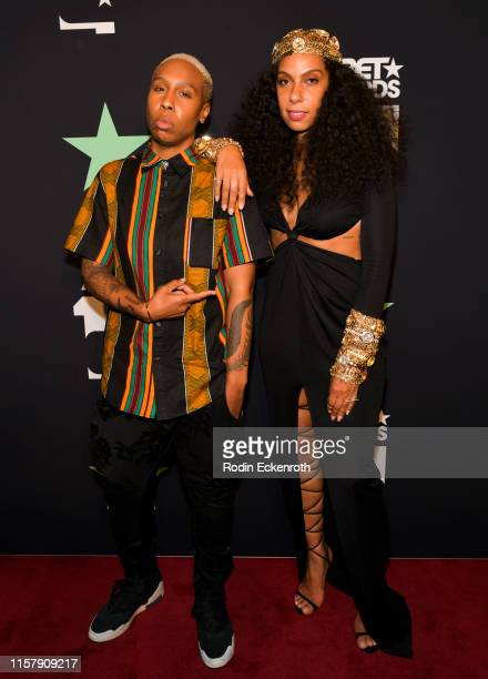Lena Waithe and Melina Matsoukas pose for portrait at the 2019 BET Awards on June 23 2019 in Los Angeles California