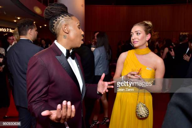 Lena Waithe and Whitney Wolfe Herd attend the 2018 TIME 100 Gala at Jazz at Lincoln Center on April 24, 2018 in New York City.
