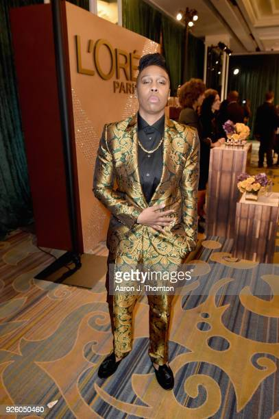 Lena Waithe attends the 2018 Essence Black Women In Hollywood Oscars Luncheon at Regent Beverly Wilshire Hotel on March 1 2018 in Beverly Hills...