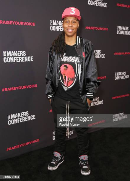 Lena Waithe attends The 2018 MAKERS Conference at NeueHouse Hollywood on February 6 2018 in Los Angeles California