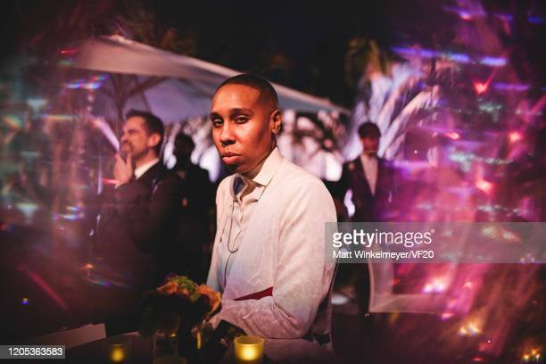Lena Waithe attends the 2020 Vanity Fair Oscar Party Hosted By Radhika Jones at Wallis Annenberg Center for the Performing Arts on February 09, 2020...
