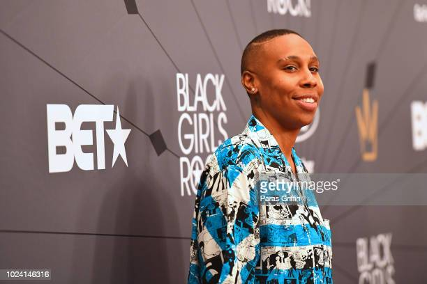 Lena Waithe attends the Black Girls Rock! 2018 Red Carpet at NJPAC on August 26, 2018 in Newark, New Jersey.