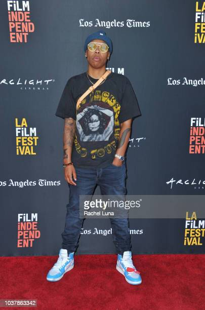 Lena Waithe attends the Don't @ Me podcast during the 2018 LA Film Festival at ArcLight Culver City on September 22 2018 in Culver City California