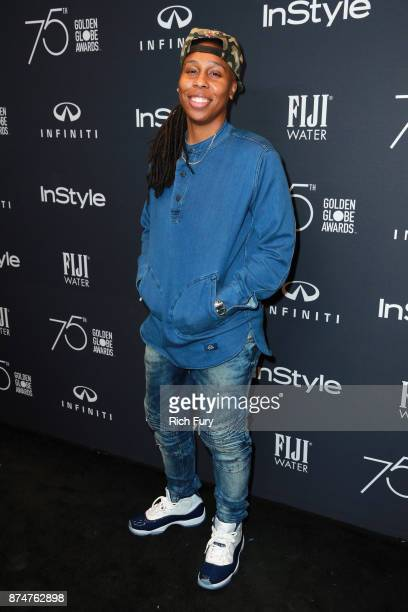 Lena Waithe attends the Hollywood Foreign Press Association and InStyle celebrate the 75th Anniversary of The Golden Globe Awards at Catch LA on...