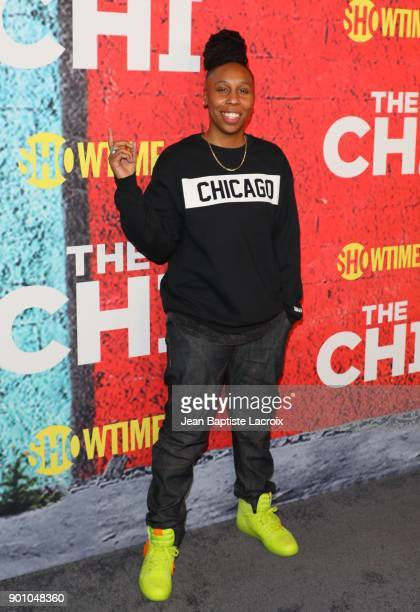 Lena Waithe attends the premiere of Showtime's 'The Chi' on January 03 2018 in Los Angeles California