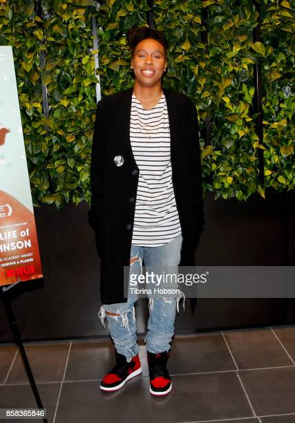 Lena Waithe attends the screening of Netflix's 'The Death And Life Of Marsha P Johnson' at NETFLIX on October 4 2017 in Los Angeles California