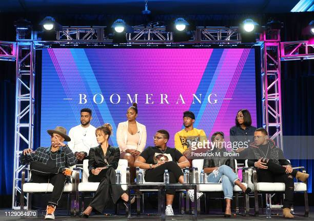 Lena Waithe Halle Berry Dime Davis Tetona Jackson Tequan Richmond Leland Martin Brittany Inge RJ Walker and Lala Milan of the television show...