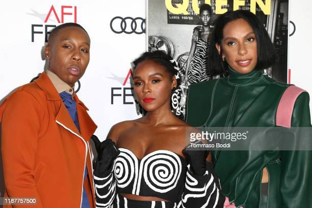 Lena Waithe Janelle Monae and Melina Matsoukas attend the AFI FEST 2019 Presented By Audi premiere of Queen Slim at TCL Chinese Theatre on November...