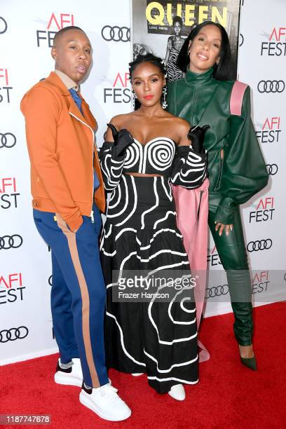 Lena Waithe Janelle Monae and Melina Matsoukas attend the Queen Slim Premiere at AFI FEST 2019 presented by Audi at the TCL Chinese Theatre on...