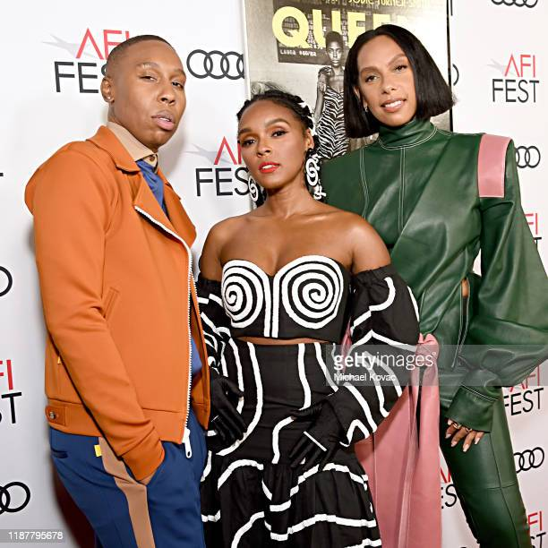 """Lena Waithe, Janelle Monae and Melina Matsoukas attend the """"Queen & Slim"""" Premiere at AFI FEST 2019 presented by Audi at the TCL Chinese Theatre on..."""