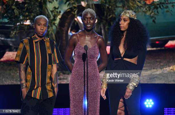 Lena Waithe Jodie TurnerSmith and Melina Matsoukas speak onstage at the 2019 BET Awards on June 23 2019 in Los Angeles California