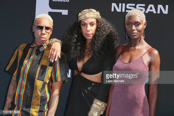 Lena Waithe Melina Matsoukas and Jodie TurnerSmith attend the 2019 BET Awards on June 23 2019 in Los Angeles California