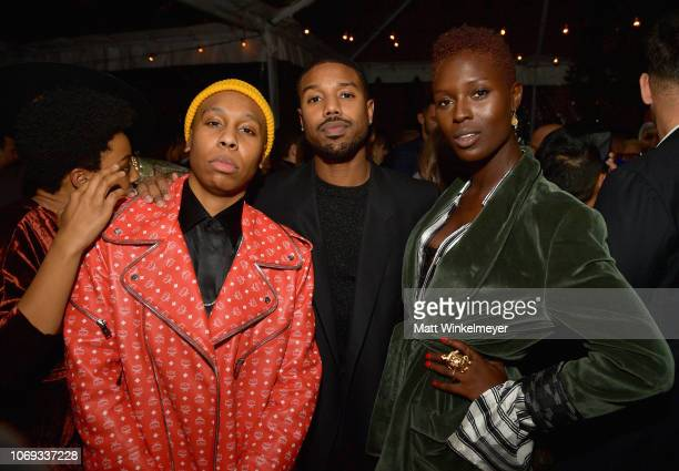 Lena Waithe Michael B Jordan and guest attend the 2018 GQ Men of the Year Party at a private residence on December 6 2018 in Beverly Hills California