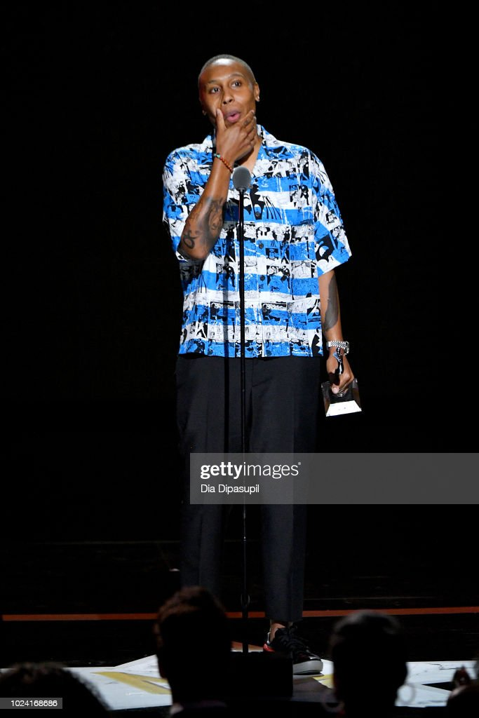 Lena Waithe speaks onstage during the Black Girls Rock! 2018 Show at NJPAC on August 26, 2018 in Newark, New Jersey.