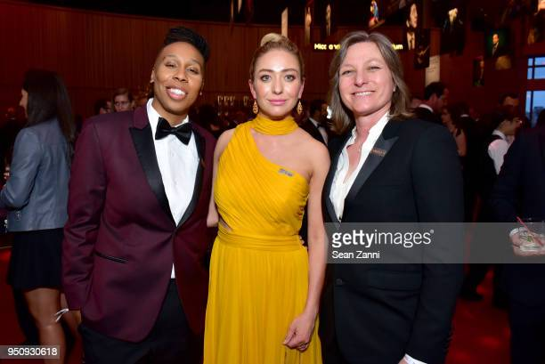 Lena Waithe Whitney Wolfe Herd and Cindy Hollandattend the 2018 TIME 100 Gala at Jazz at Lincoln Center on April 24 2018 in New York City
