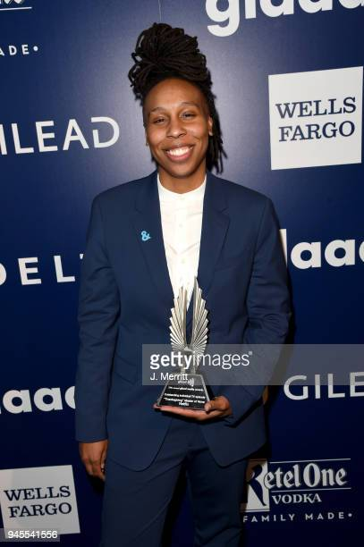 Lena Waithe winner of Outstanding Individual Epsiode for 'Master of None' poses backstage at the 29th Annual GLAAD Media Awards at The Beverly Hilton...