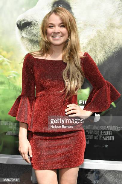 Lenay Chantelle attends the premiere of Warner Bros Pictures and IMAX Entertainment's 'Pandas' at TCL Chinese Theatre IMAX on March 17 2018 in...