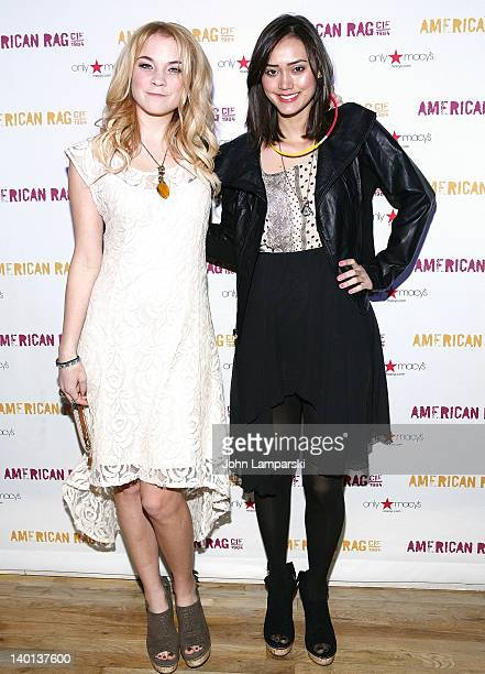 Lenay Dunn and Dia Frampton attend the Meet Lenay Dunn event at WIP on February 28 2012 in New York City