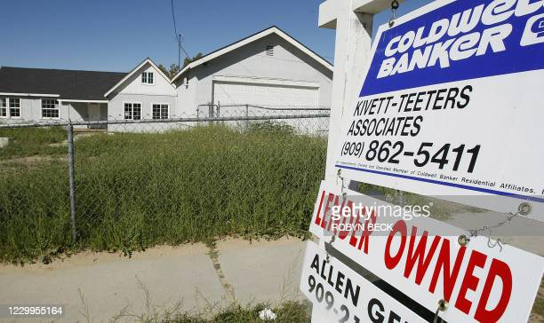 Lender-owned home is for sale in the city of Rialto in southern California's San Bernardino county on February 26, 2008. The number of homes facing...