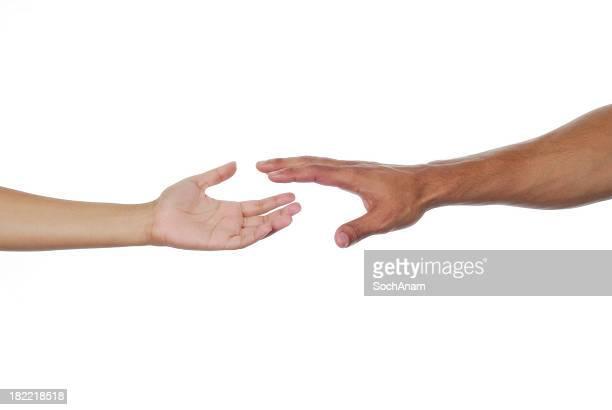Durch eine helfende Hand